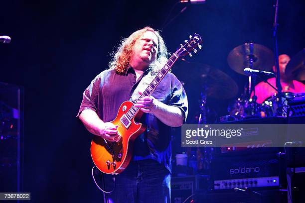 Warren Haynes of The Allman Brothers Band performs during their first night of 13 performances at The Beacon Theatre on March 22 2007 in New York City