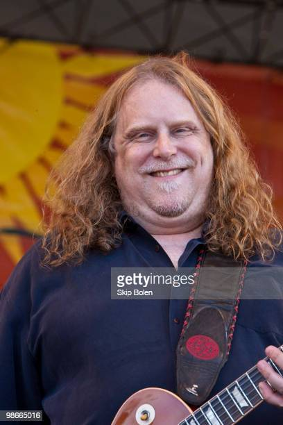 Warren Haynes of The Allman Brothers performs during day 3 of the 41st annual New Orleans Jazz Heritage Festival at the Fair Grounds Race Course on...