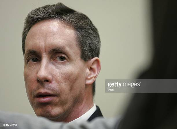 Warren Jeffs listens to testimony during his trial on rape-as-an-accomplice charges September 19, 2007 in St. George, Utah. Jeffs, former head of the...
