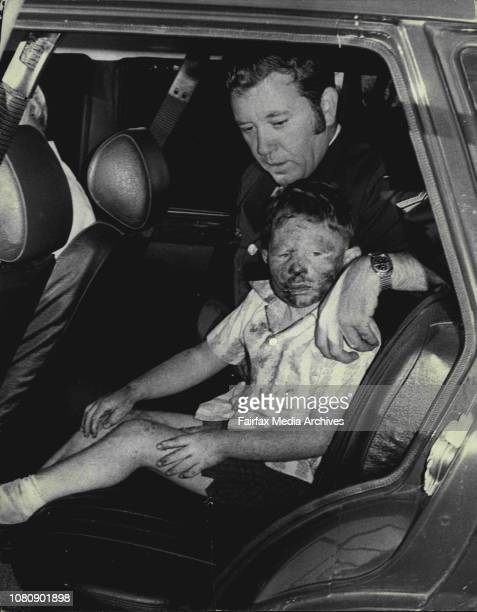 Warren Jeffs of Peakhurst pictured in a car with Senior constable Brian Link of Mosman after he had been missing all night in Taronga ParkWarren...