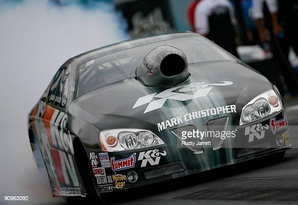 Warren Johnson driver of the KN Filters Pontiac GXP during first round qualifying for the NHRA Carolinas Nationals on September 18 2009 at Zmax...