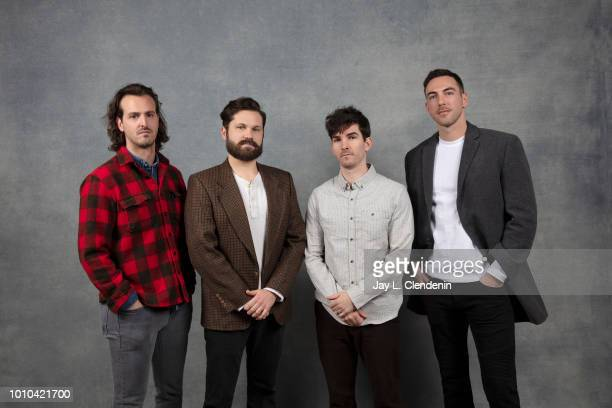 Warren Lipka Eric Borsuk subject Spencer Reinhard and Charles Allen reallife subjects of the film 'American Animals' are photographed for Los Angeles...