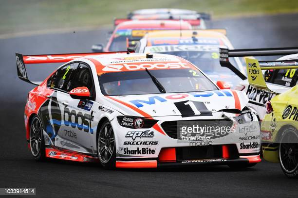 Warren Luff drives the Mobil 1 Boost Mobile Racing Holden Commodore ZB during qualifying race for grid 1 for the Supercars Sandown 500 at Sandown...