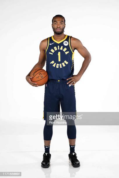 J Warren of the Indiana Pacers poses for a portrait during media day on September 27 2019 at Bankers Life Fieldhouse in Indianapolis Indiana NOTE TO...