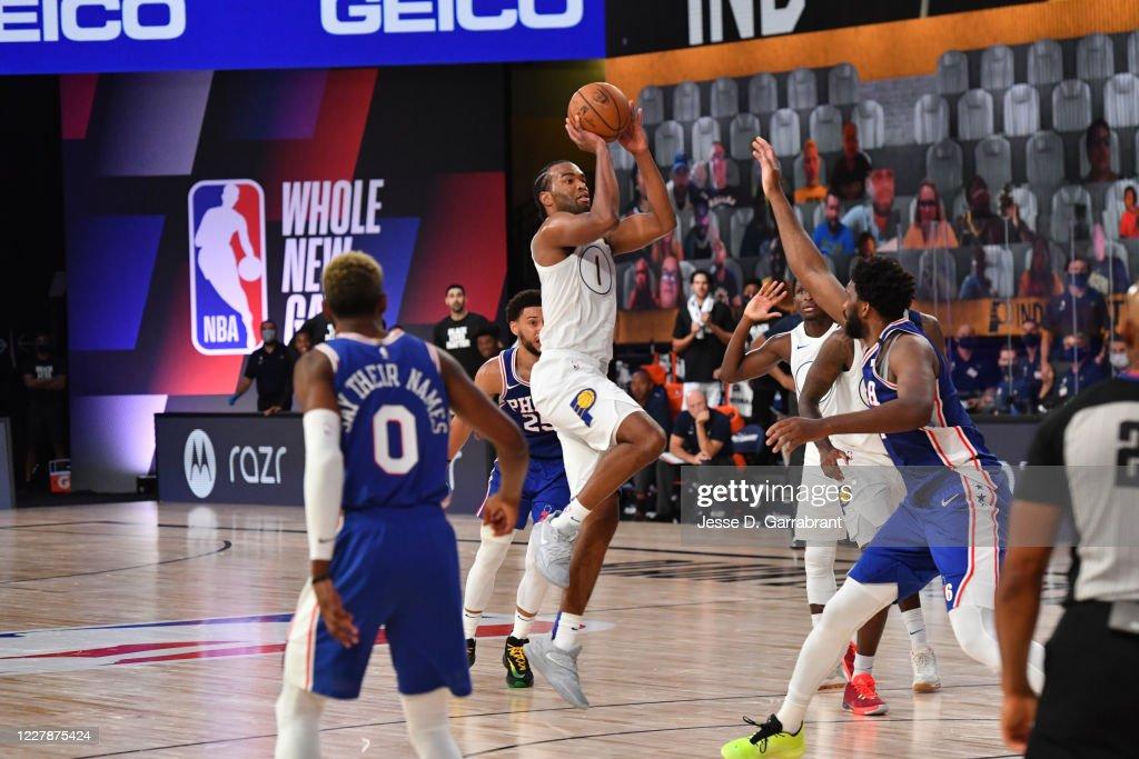 Philadelphia 76ers v Indiana Pacers : News Photo
