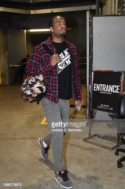 Warren of the Phoenix Suns arrives prior to a game against the LA Clippers on November 28 2018 at STAPLES Center in Los Angeles California NOTE TO...