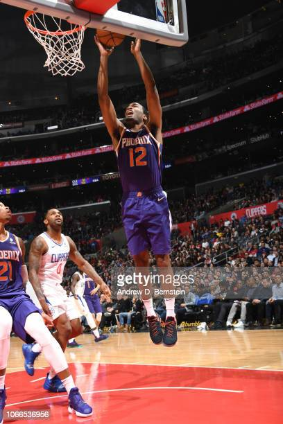 J Warren of the Phoenix Suns goes to the basket against the LA Clippers on November 28 2018 at STAPLES Center in Los Angeles California NOTE TO USER...
