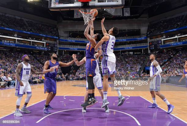 Warren of the Phoenix Suns goes up for the shot against the Sacramento Kings on April 11 2017 at Golden 1 Center in Sacramento California NOTE TO...