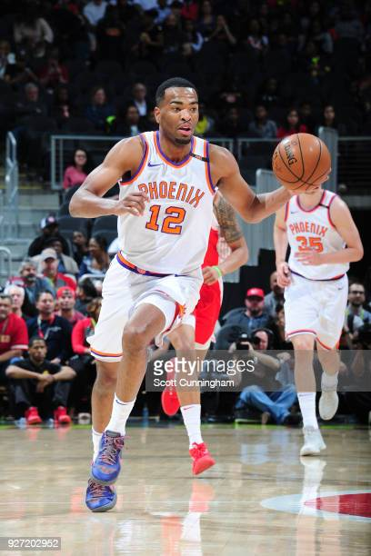 Warren of the Phoenix Suns handles the ball against the Atlanta Hawks on March 4 2018 at Philips Arena in Atlanta Georgia NOTE TO USER User expressly...