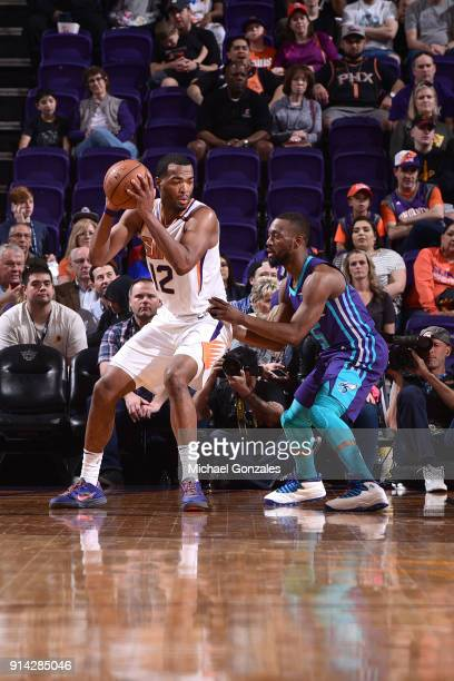 Warren of the Phoenix Suns handles the ball against the Charlotte Hornets on February 4 2018 at Talking Stick Resort Arena in Phoenix Arizona NOTE TO...