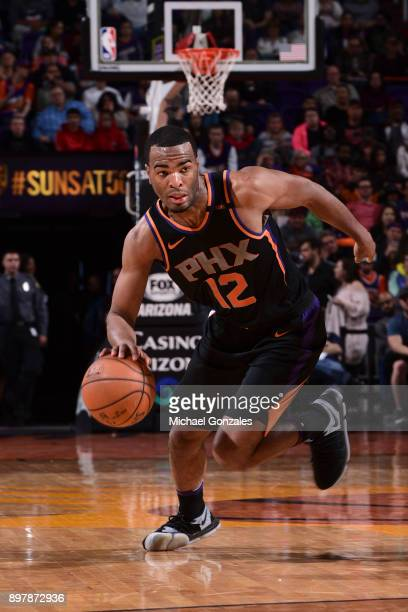 Warren of the Phoenix Suns handles the ball against the Minnesota Timberwolves on December 23 2017 at Talking Stick Resort Arena in Phoenix Arizona...