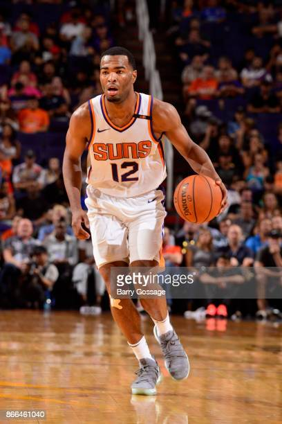 Warren of the Phoenix Suns handles the ball against the Utah Jazz on October 25 2017 at Talking Stick Resort Arena in Phoenix Arizona NOTE TO USER...