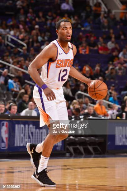 Warren of the Phoenix Suns handles the ball during the game against the San Antonio Spurs on February 7 2018 at Talking Stick Resort Arena in Phoenix...