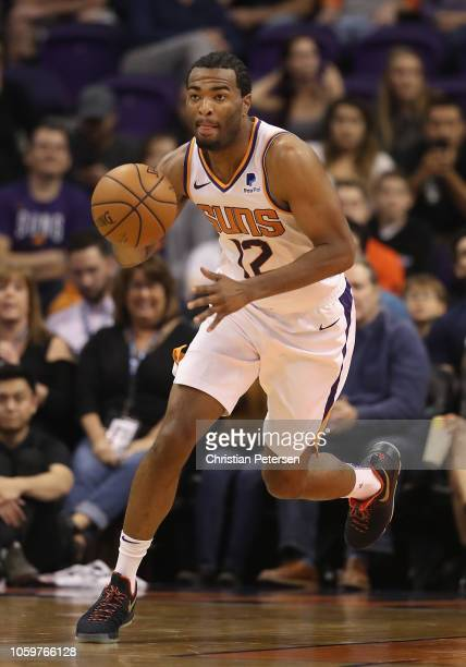 Warren of the Phoenix Suns handles the ball during the NBA game against the Boston Celtics at Talking Stick Resort Arena on November 8 2018 in...