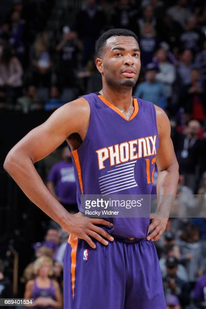 Warren of the Phoenix Suns looks on during the game against the Sacramento Kings on April 11 2017 at Golden 1 Center in Sacramento California NOTE TO...