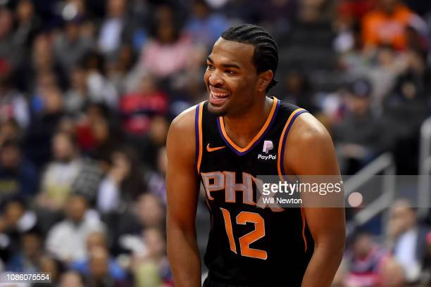J Warren of the Phoenix Suns looks on during the second half against the Washington Wizards at Capital One Arena on December 22 2018 in Washington DC...