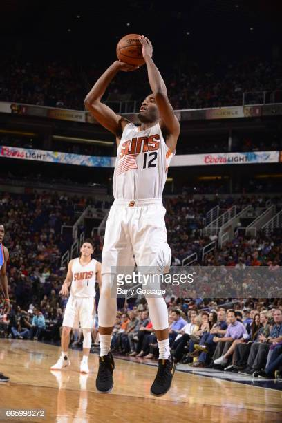 Warren of the Phoenix Suns shoots the ball against the Oklahoma City Thunder on April 7 2017 at Talking Stick Resort Arena in Phoenix Arizona NOTE TO...