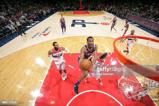 Warren of the Phoenix Suns shoots the ball against the Washington Wizards on November 1 2017 at Capital One Arena in Washington DC NOTE TO USER User...