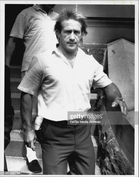Warren Richards whom criminal Lee Henderson claims was one of SallieAnne Huckstepp's killers near Redfern Local Court yesterday March 26 1990