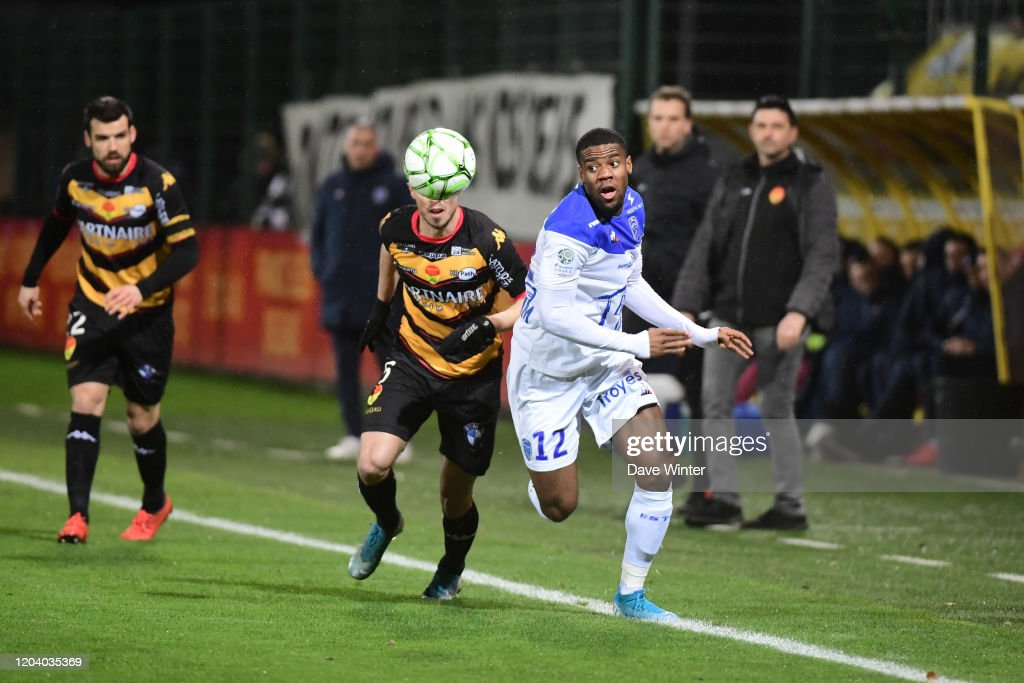Warren Tchimbembe Of Troyes And Maxime D Arpino Of Orleans During The News Photo Getty Images