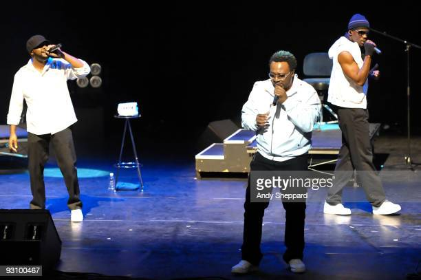 Warren Thomas Roger N'glish Thomas and Jamal Reed of Naturally 7 perform on stage at Royal Festival Hall as part of the London Jazz Festival 2009 on...