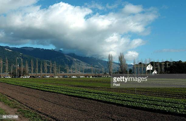 Warren Weber's sustainable Organic Farm is seen during a visit by Camilla Duchess of Cornwall and Charles Prince of Wales November 5 2005 near San...