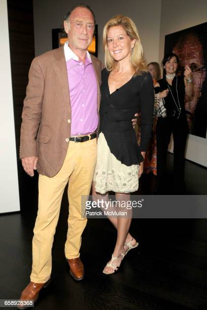 Warren Weitman and Eve Reid attend AMY JOHN PHELAN host wineCRUSH 2009 for the ASPEN ART MUSEUM at Phelan Residence on August 5 2009 in Aspen CO
