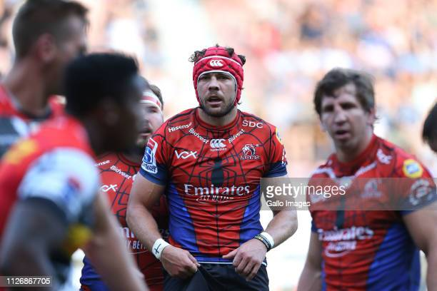 Warren Whiteley of Lions during the Super Rugby match between DHL Stormers and Emirates Lions at DHL Newlands Stadium on February 23 2019 in Cape...
