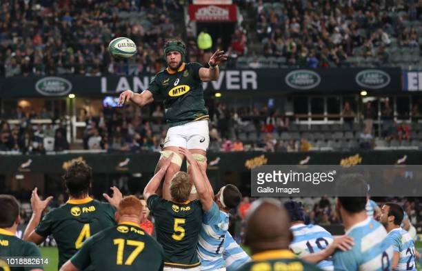 Warren Whiteley of South Africa during the Rugby Championship match between South Africa and Argentina at Jonsson Kings Park on August 18 2018 in...