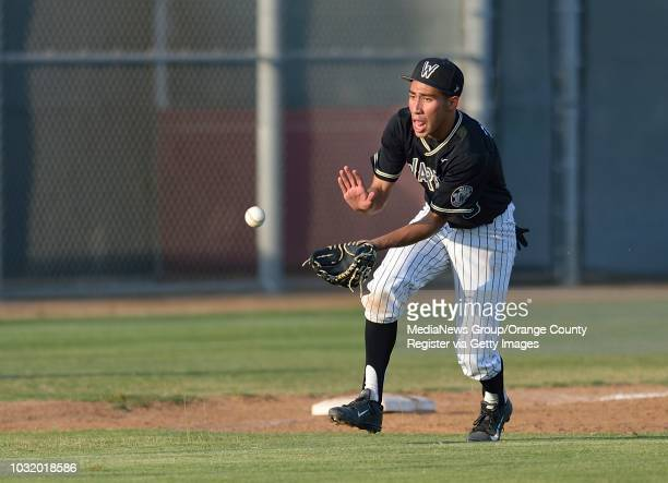 Warren's Daniel Roman fields the ball during the 6th. Annual Moore League/San Gabriel Valley League All-Star Game in Paramount, Calif., on Friday,...
