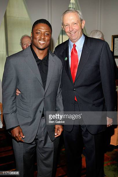 Warrick Dunn and Sam Beard attend the 2011 Jefferson Awards for Public Service at Le Cirque on June 22 2011 in New York City