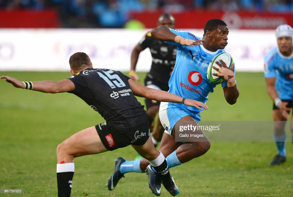 Warrick Gelant of the Bulls during the Super Rugby match between Vodacom Bulls and Cell C Sharks at Loftus Versfeld on May 12, 2018 in Pretoria, South Africa.
