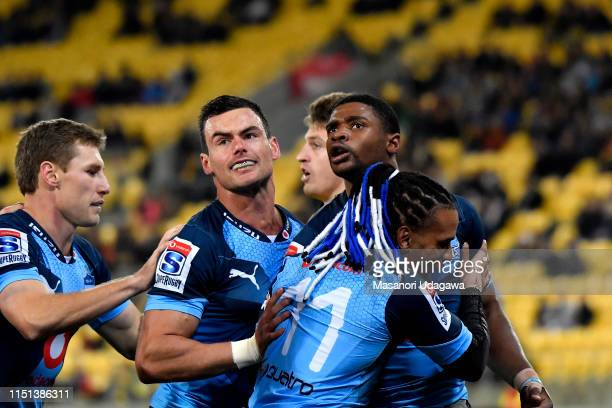Warrick Gelant of the Bulls during the Super Rugby Quarter Final match between the Hurricanes and the Bulls at Westpac Stadium on June 22 2019 in...
