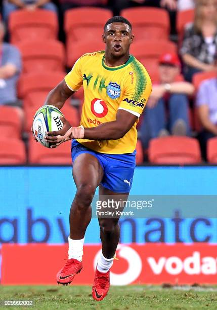 Warrick Gelant of the Bulls in action during the round four Super Rugby match between the Reds and the Bulls at Suncorp Stadium on March 10 2018 in...