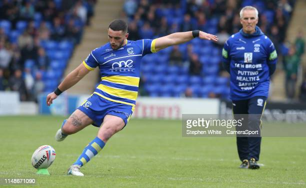 Warrington Wolves' Declan Patton during the Betfred Super League Round 17 match between Warrington Wolves and Catalans Dragons at The Halliwell Jones...