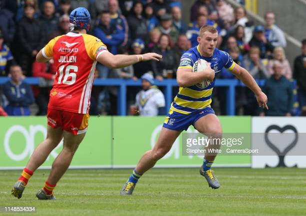 Warrington Wolves' Jack Hughes during the Betfred Super League Round 17 match between Warrington Wolves and Catalans Dragons at The Halliwell Jones...