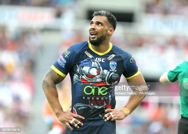 Warrington Wolves' Ryan Atkins