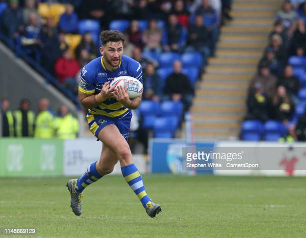 Warrington Wolves' Toby King during the Betfred Super League Round 17 match between Warrington Wolves and Catalans Dragons at The Halliwell Jones...