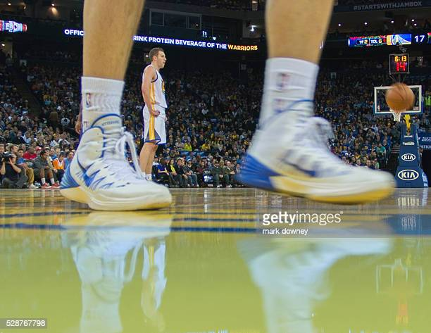 Warrior David Lee seen though players shoes