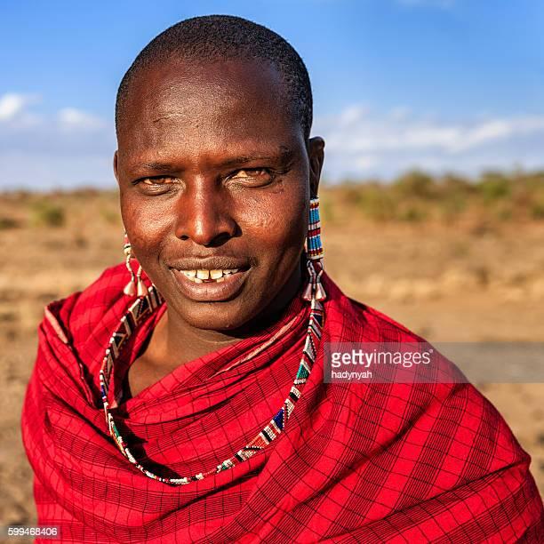 warrior from maasai tribe, kenya, africa - guerrier massai photos et images de collection