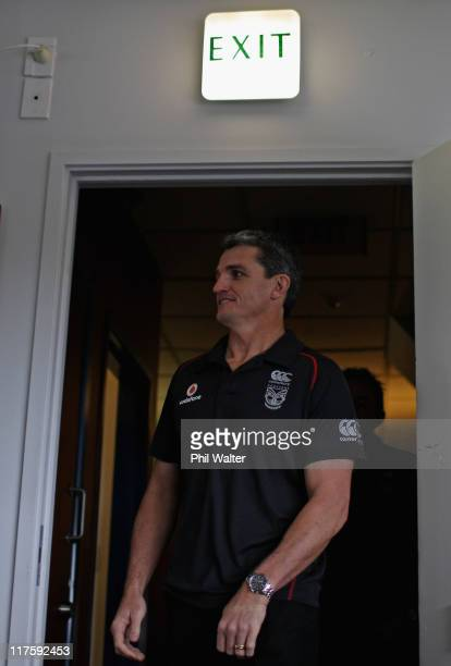Warriors coach Ivan Cleary arrives to speak with the media at Mt Smart Stadium on June 29 2011 in Auckland New Zealand Cleary announced his decision...