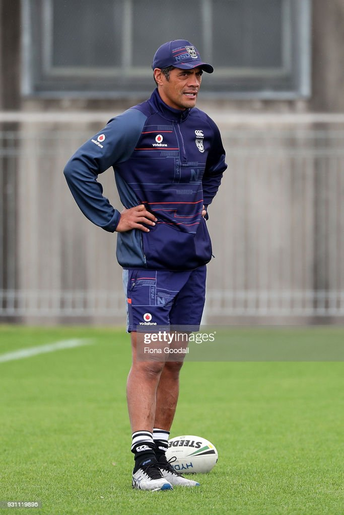 Warriors Coach Stephen Kearney during a New Zealand Warriors NRL training session at Mt Smart Stadium on March 13, 2018 in Auckland, New Zealand.