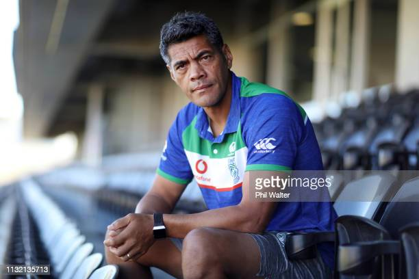 Warriors coach Stephen Kearney poses for a portrait during a Warriors media conference at Mount Smart Stadium on February 26 2019 in Auckland New...