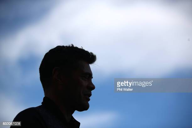 Warriors coach Stephen Kearney speaks to the media during a New Zealand Warriors NRL media session at Mt Smart Stadium on August 16 2017 in Auckland...