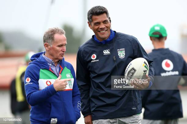 Warriors coach Stephen Kearney with during a New Zealand Warriors NRL media opportunity at Mount Smart Stadium on December 10 2018 in Auckland New...