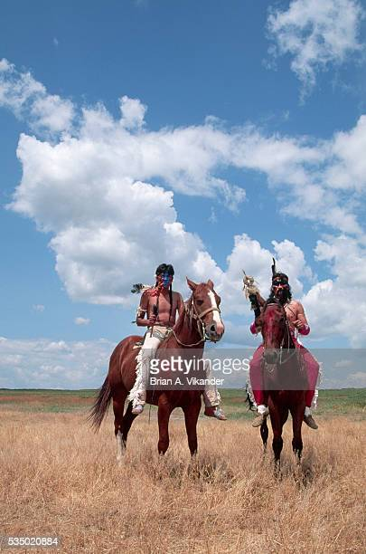Warriors in Little Bighorn Reenactment