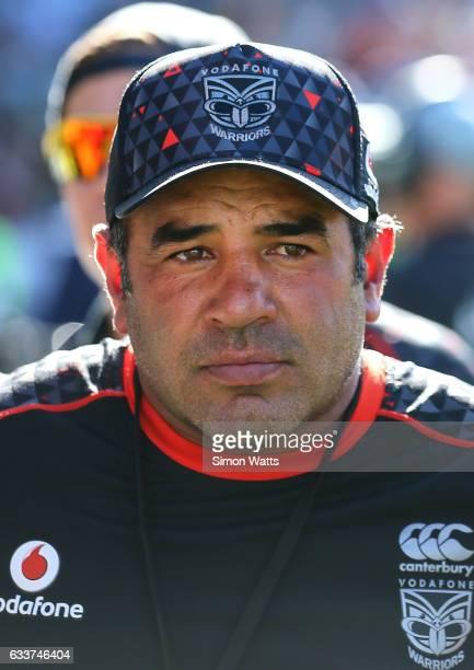 Warriors Nines coach Stacey Jones looks dejected after the 2017 Auckland Nines match between the New Zealand Warriors and the Parramatta Eels at Eden...
