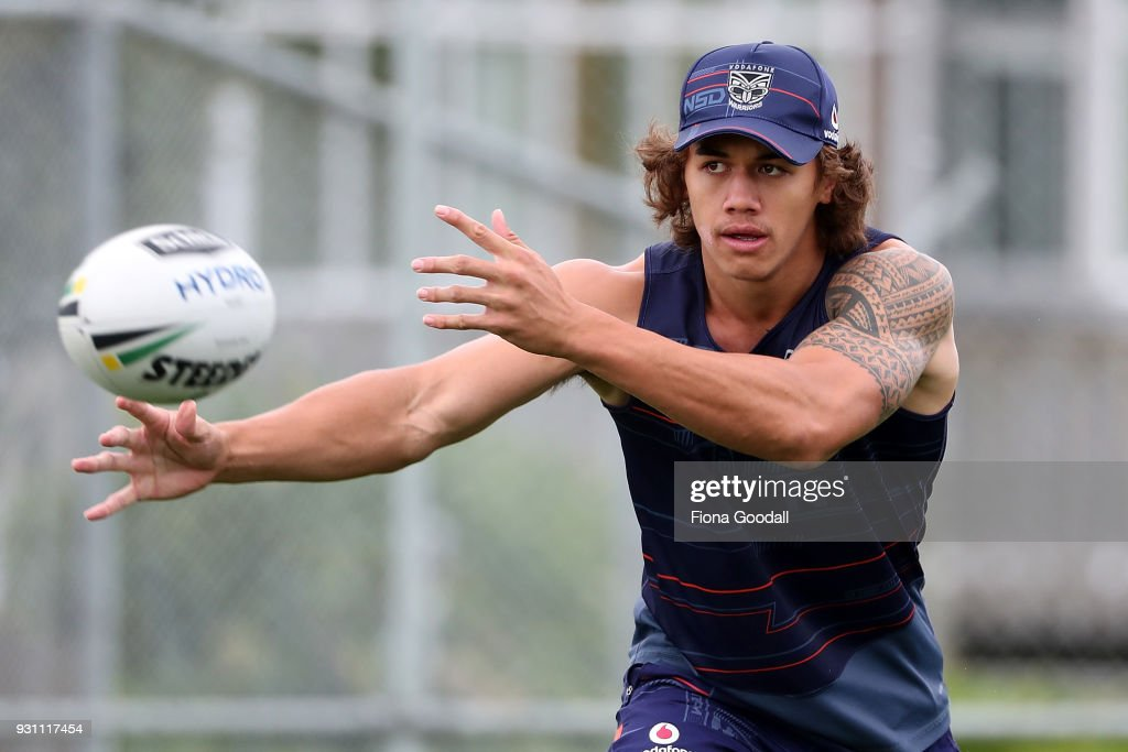 Warriors player Chanel Harris-Tavita during a New Zealand Warriors NRL training session at Mt Smart Stadium on March 13, 2018 in Auckland, New Zealand.