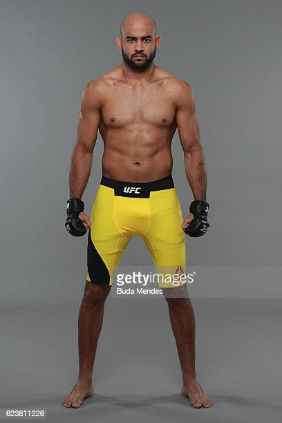 Warrley Alves poses for a portrait during a UFC photo session at the Renaissance Hotel on November 16 2016 in Sao Paulo Brazil