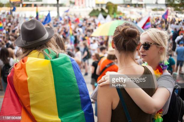 Warsaw agaianst homophoby demonstration in Warsaw on 27 July 2019